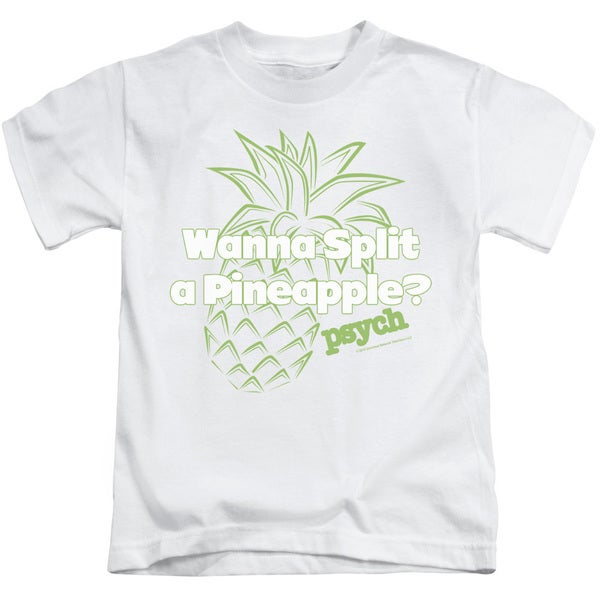 Psych/Pineapple Split Short Sleeve Juvenile Graphic T-Shirt in Kelly Green