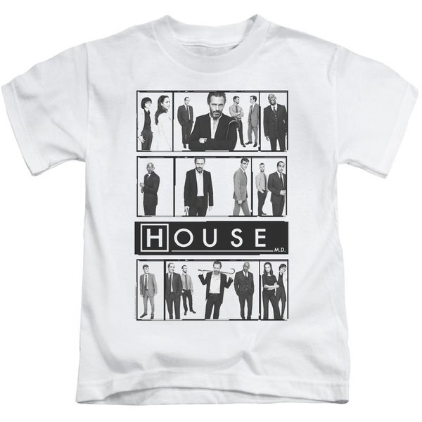 House/Film Short Sleeve Juvenile Graphic T-Shirt in White