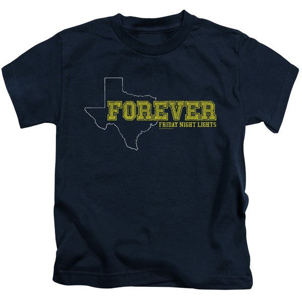 Friday Night Lights/Texas Forever Short Sleeve Juvenile Graphic T-Shirt in Navy