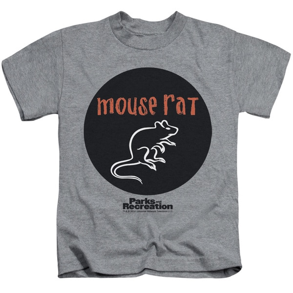 Parks & Rec/Mouse Rat Circle Short Sleeve Juvenile Graphic T-Shirt in Athletic Heather