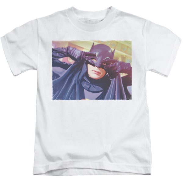 Batman Classic Tv/Smooth Groove Short Sleeve Juvenile Graphic T-Shirt in White