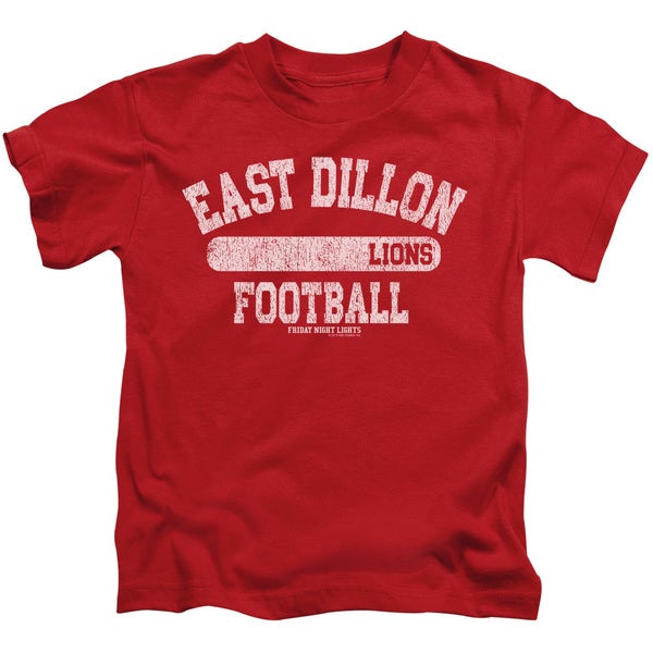 Friday Night Lights/Lions Pill Box Short Sleeve Juvenile Graphic T-Shirt in Red