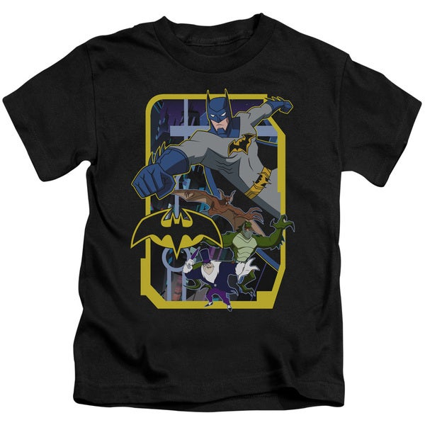 Batman Unlimited/Unlimited Villains Short Sleeve Juvenile Graphic T-Shirt in Black