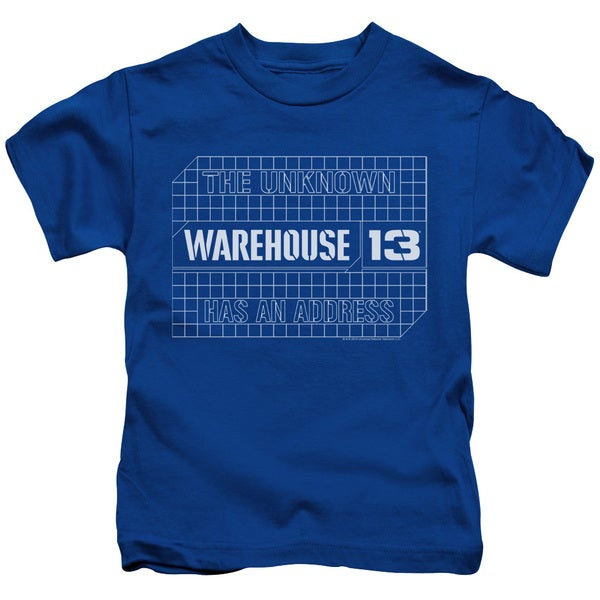 Warehouse 13/Blueprint Logo Short Sleeve Juvenile Graphic T-Shirt in Royal Blue
