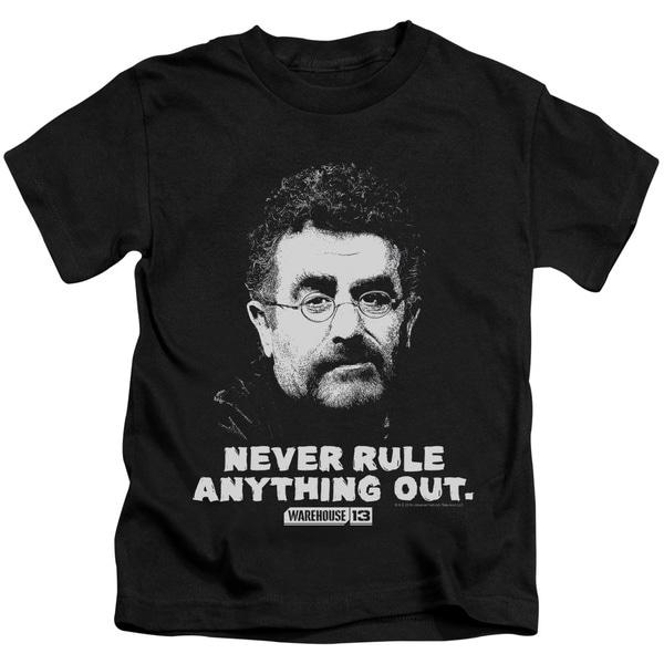 Warehouse 13/Artie Short Sleeve Juvenile Graphic T-Shirt in Black