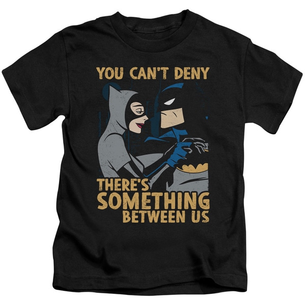 Batman The Animated Series/Between Us Short Sleeve Juvenile Graphic T-Shirt in Black