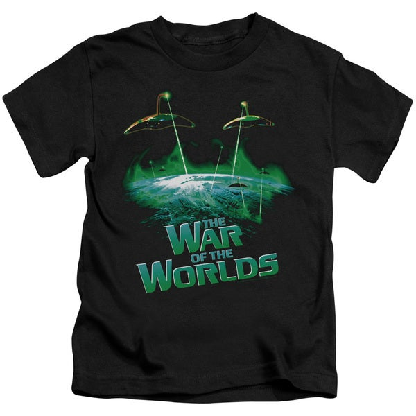 War Worlds/Global Attack Short Sleeve Juvenile Graphic T-Shirt in Black