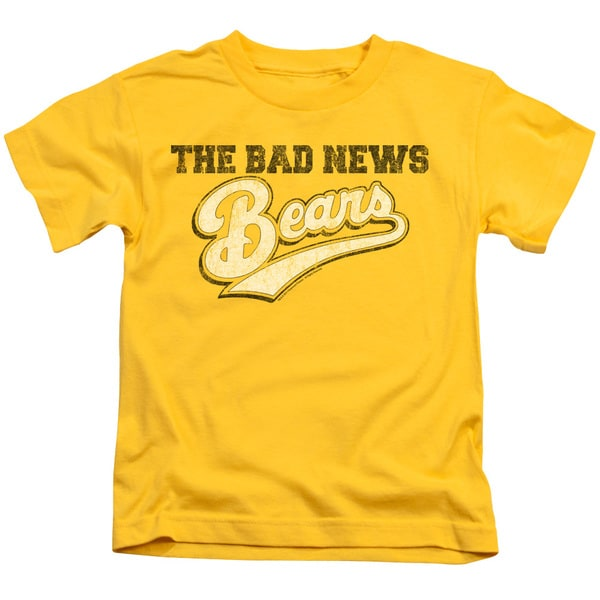 Bad News Bears/Logo Short Sleeve Juvenile Graphic T-Shirt in Yellow