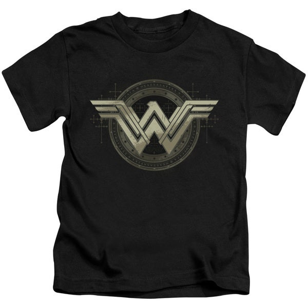Batman V Superman/Ancient Emblems Short Sleeve Juvenile Graphic T-Shirt in Black