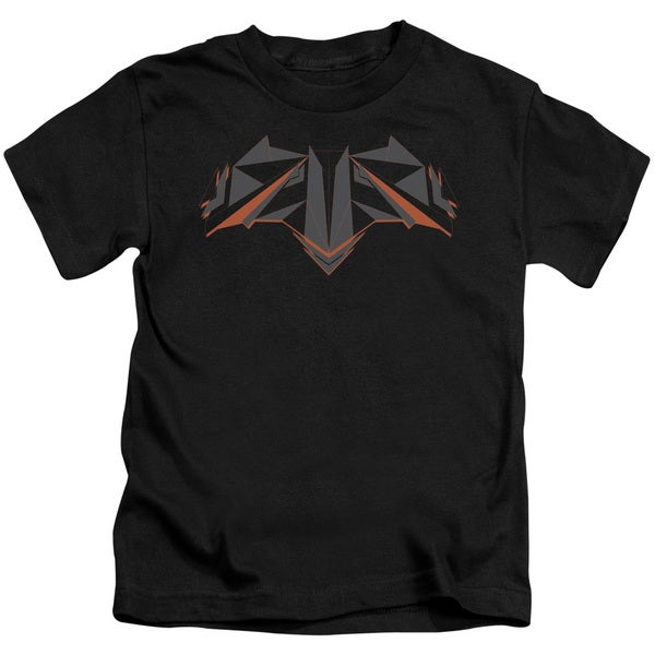 Batman V Superman/Tech Bat Logo Short Sleeve Juvenile Graphic T-Shirt in Black