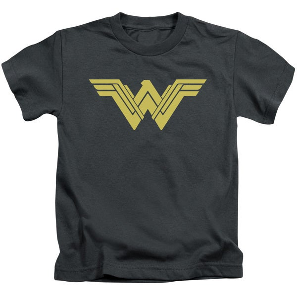 Batman V Superman/Clean Line Logo Short Sleeve Juvenile Graphic T-Shirt in Charcoal