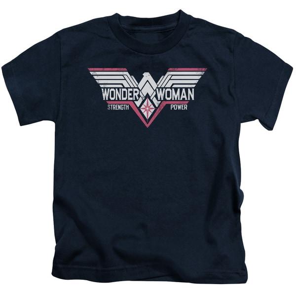 Batman V Superman/Thunder Logo Short Sleeve Juvenile Graphic T-Shirt in Navy