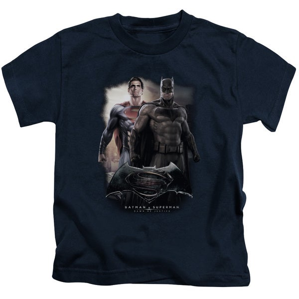 Batman Vs Superman/Dawn Short Sleeve Juvenile Graphic T-Shirt in Navy