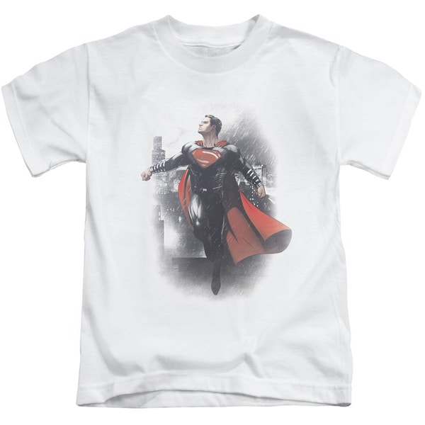 Batman Vs Superman/A New Dawn Short Sleeve Juvenile Graphic T-Shirt in White
