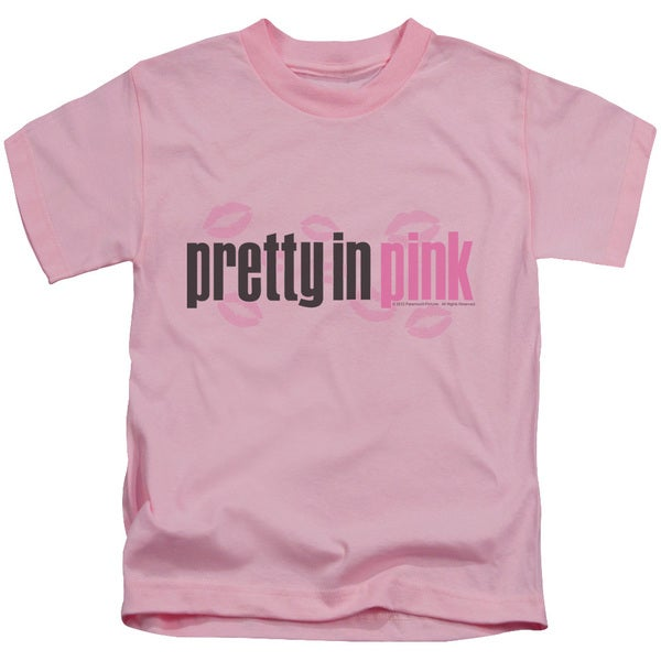 Pretty in Pink/Logo Short Sleeve Juvenile Graphic T-Shirt in Pink