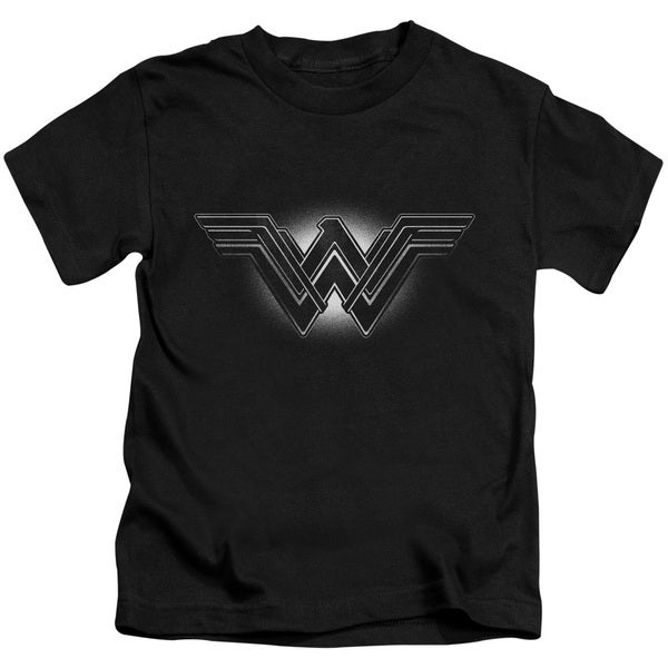 Batman V Superman/Glow Emblem Short Sleeve Juvenile Graphic T-Shirt in Black