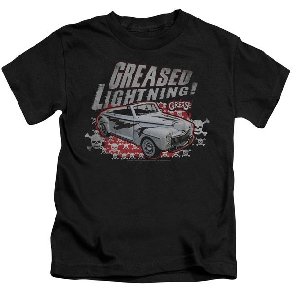 Grease/Greased Lightening Short Sleeve Juvenile Graphic T-Shirt in Black