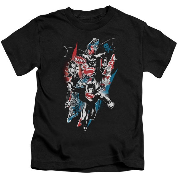 Batman V Superman/Ripped Trio 2 Short Sleeve Juvenile Graphic T-Shirt in Black