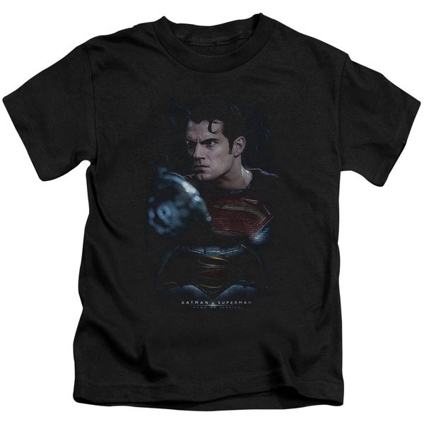 Batman V Superman/Super Angry Short Sleeve Juvenile Graphic T-Shirt in Black