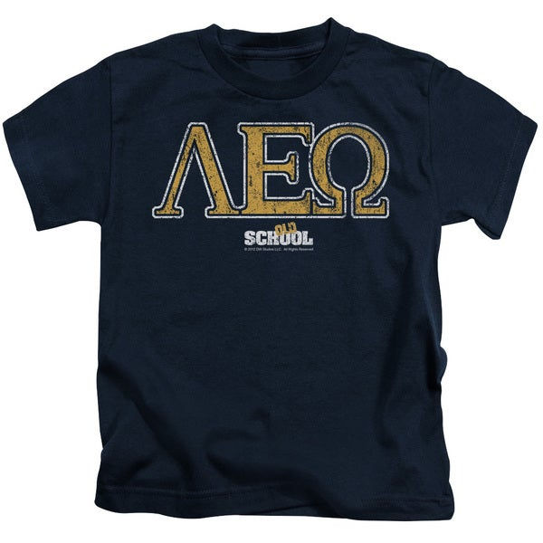 Old School/Leo Short Sleeve Juvenile Graphic T-Shirt in Navy