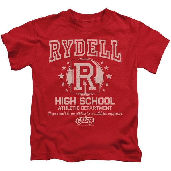 Grease/Rydell High Short Sleeve Juvenile Graphic T-Shirt in Red