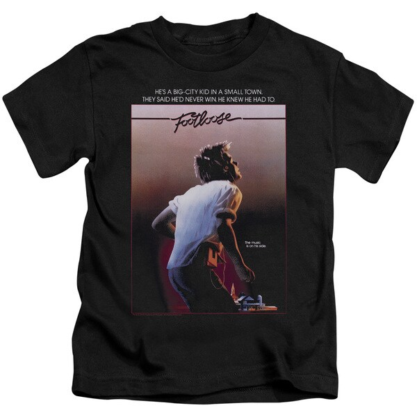 Footloose/Poster Short Sleeve Juvenile Graphic T-Shirt in Black