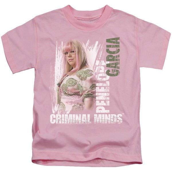 Criminal Minds/Penelope Short Sleeve Juvenile Graphic T-Shirt in Pink