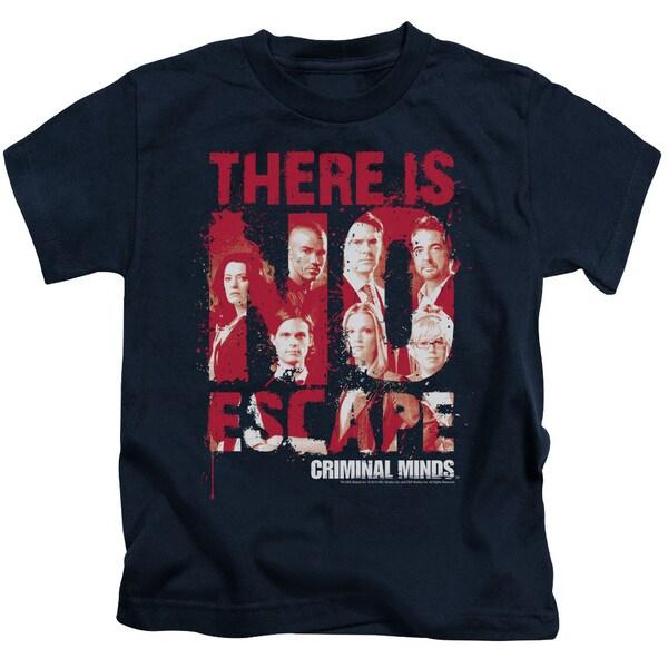 Criminal Minds/No Escape Short Sleeve Juvenile Graphic T-Shirt in Navy