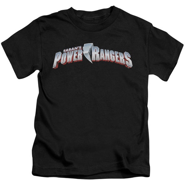 Power Rangers/New Logo Short Sleeve Juvenile Graphic T-Shirt in Black
