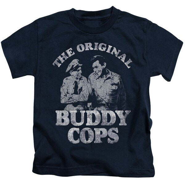 Andy Griffith/Buddy Cops Short Sleeve Juvenile Graphic T-Shirt in Navy