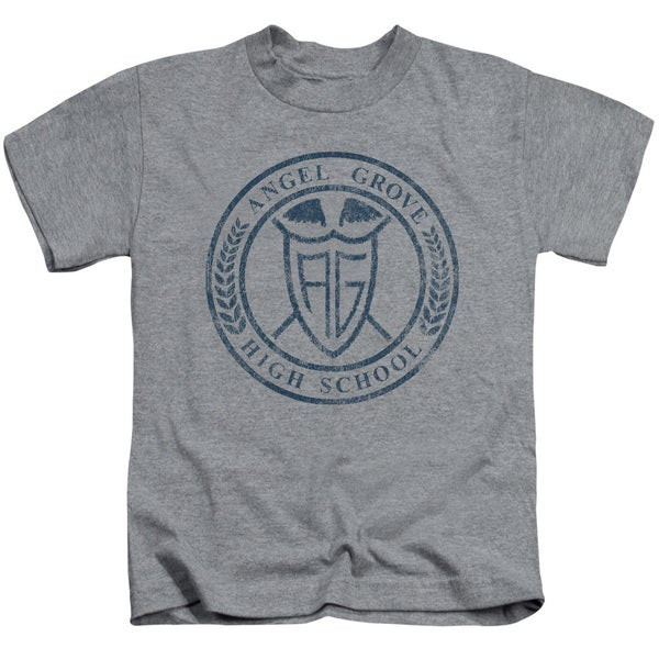 Power Rangers/Angel Grove Hs Short Sleeve Juvenile Graphic T-Shirt in Athletic Heather