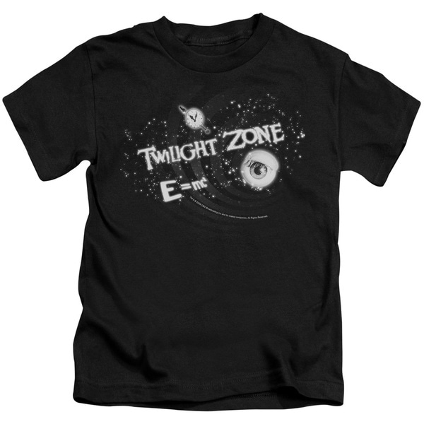 Twilight Zone/Another Dimension Short Sleeve Juvenile Graphic T-Shirt in Black