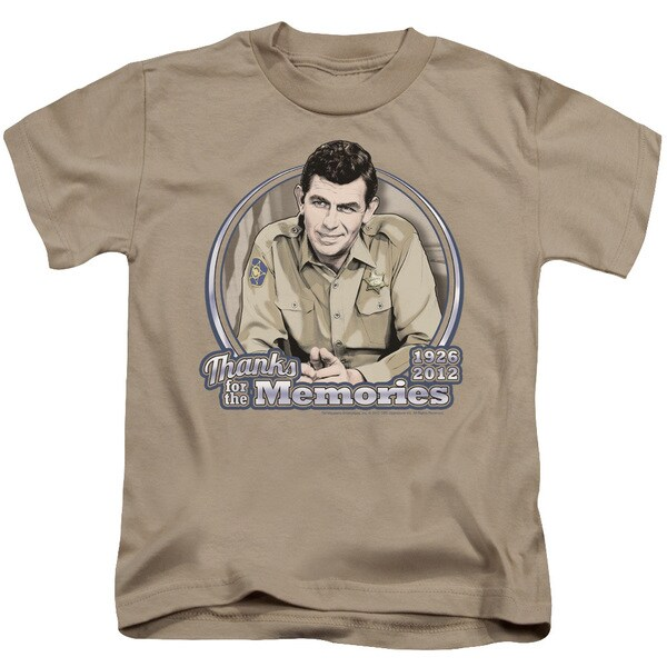 Andy Griffith/Thanks For The Memories Short Sleeve Juvenile Graphic T-Shirt in Sand