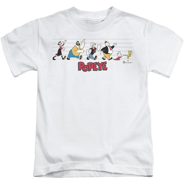 Popeye/The Usual Suspects Short Sleeve Juvenile Graphic T-Shirt in White