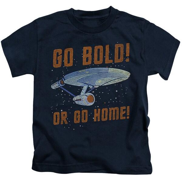 Star Trek/Go Bold Short Sleeve Juvenile Graphic T-Shirt in Navy