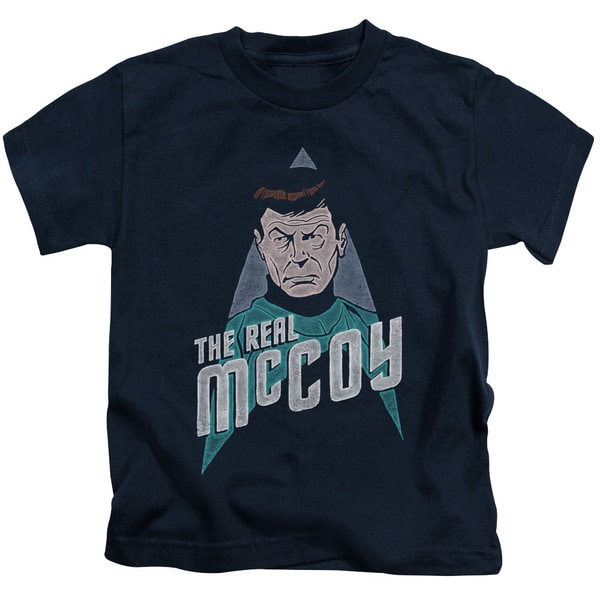 Star Trek/The Real Mccoy Short Sleeve Juvenile Graphic T-Shirt in Navy