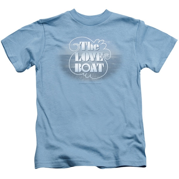 Love Boat/The Love Boat Short Sleeve Juvenile Graphic T-Shirt in Carolina Blue