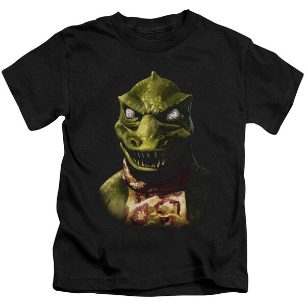 Star Trek/Gorn Bust Short Sleeve Juvenile Graphic T-Shirt in Black