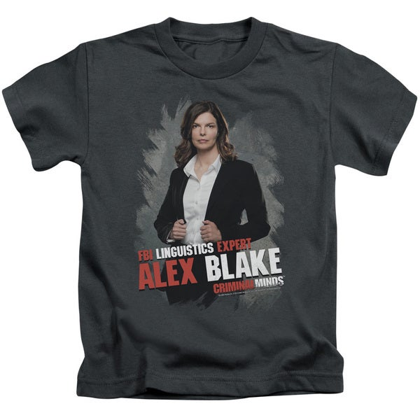 Criminal Minds/Alex Blake Short Sleeve Juvenile Graphic T-Shirt in Charcoal