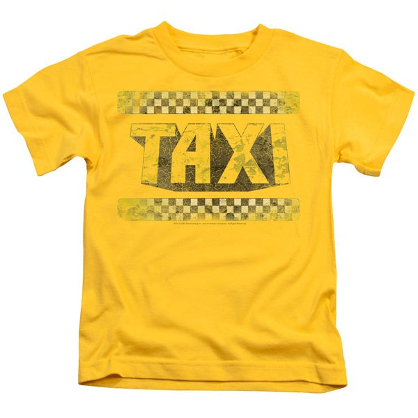 Taxi/Run Down Taxi Short Sleeve Juvenile Graphic T-Shirt in Yellow