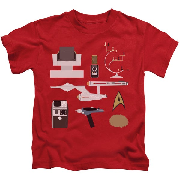 Star Trek/Tos Gift Set Short Sleeve Juvenile Graphic T-Shirt in Red