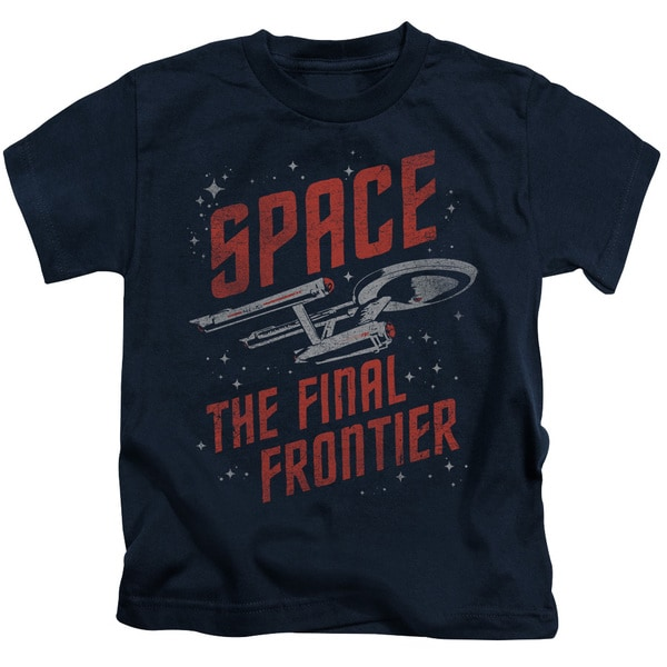 Star Trek/Space Travel Short Sleeve Juvenile Graphic T-Shirt in Navy