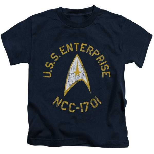 Star Trek/Collegiate Short Sleeve Juvenile Graphic T-Shirt in Navy