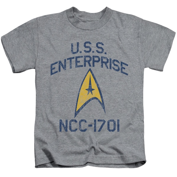 Star Trek/Collegiate Arch Short Sleeve Juvenile Graphic T-Shirt in Athletic Heather