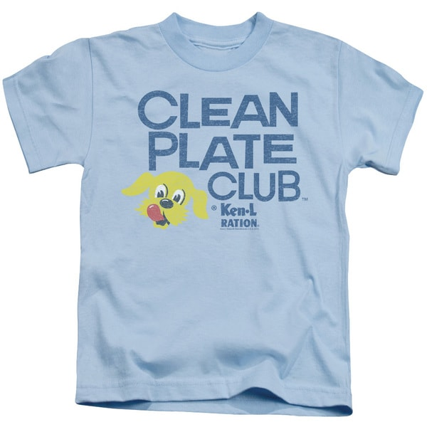 Ken L Ration/Clean Plate Short Sleeve Juvenile Graphic T-Shirt in Light Blue