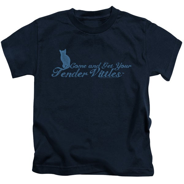 Tender Vittles/Come and Get Em Short Sleeve Juvenile Graphic T-Shirt in Navy