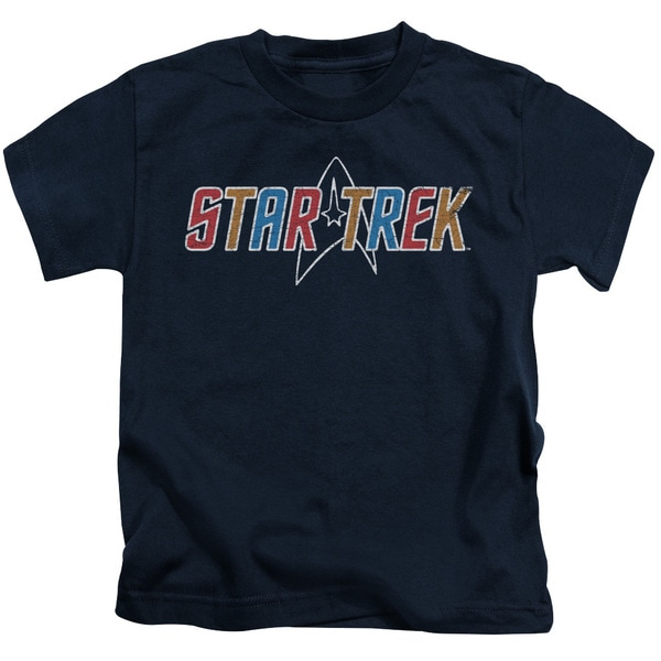 Star Trek/Multi Colored Logo Short Sleeve Juvenile Graphic T-Shirt in Navy