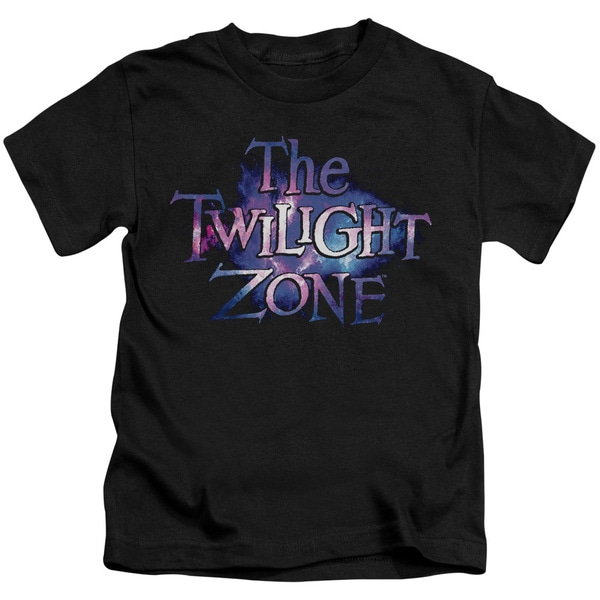 Twilight Zone/Twilight Galaxy Short Sleeve Juvenile Graphic T-Shirt in Black