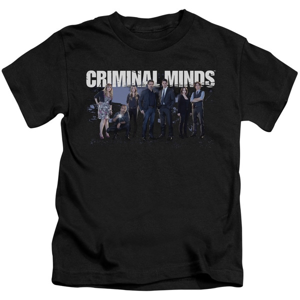 Criminal Minds/Season 10 Cast Short Sleeve Juvenile Graphic T-Shirt in Black
