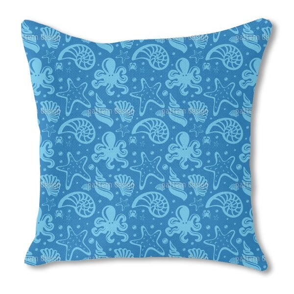Under the Sea Burlap Pillow Single Sided